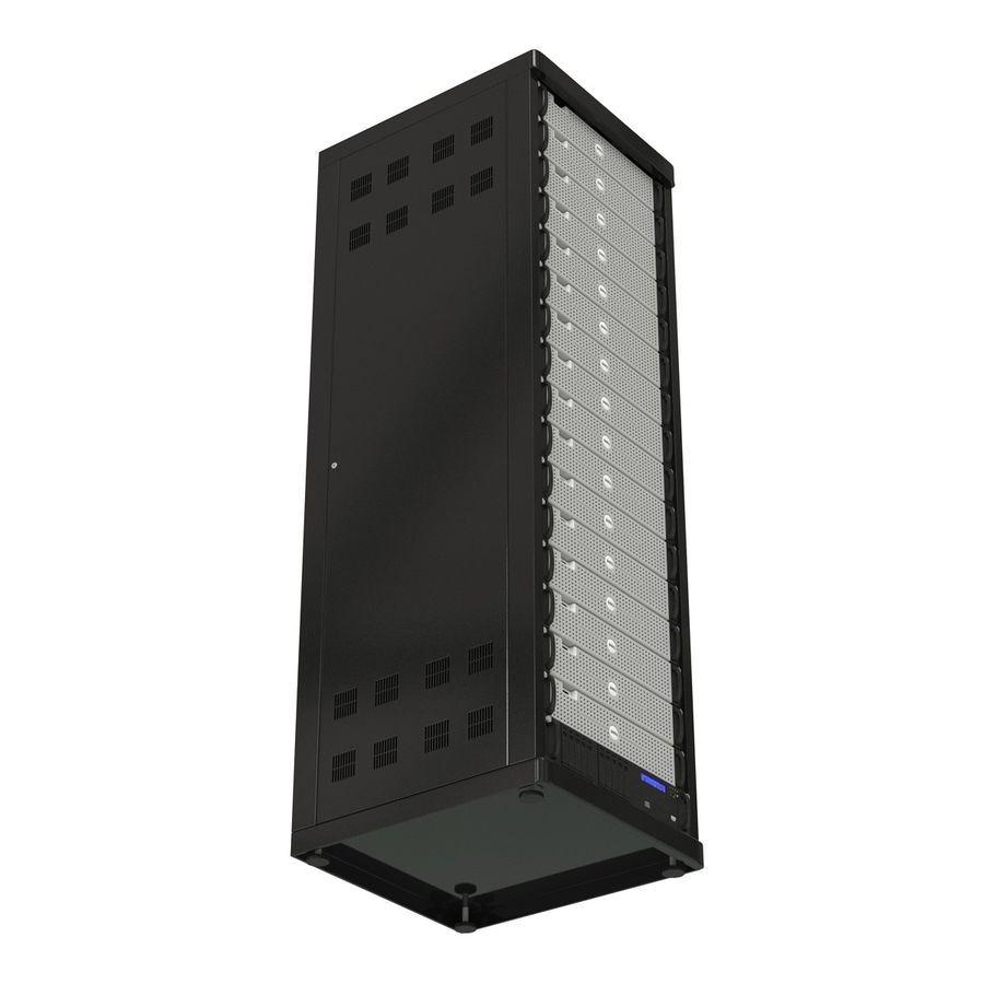 Dell Servers in Rack 2 royalty-free 3d model - Preview no. 8