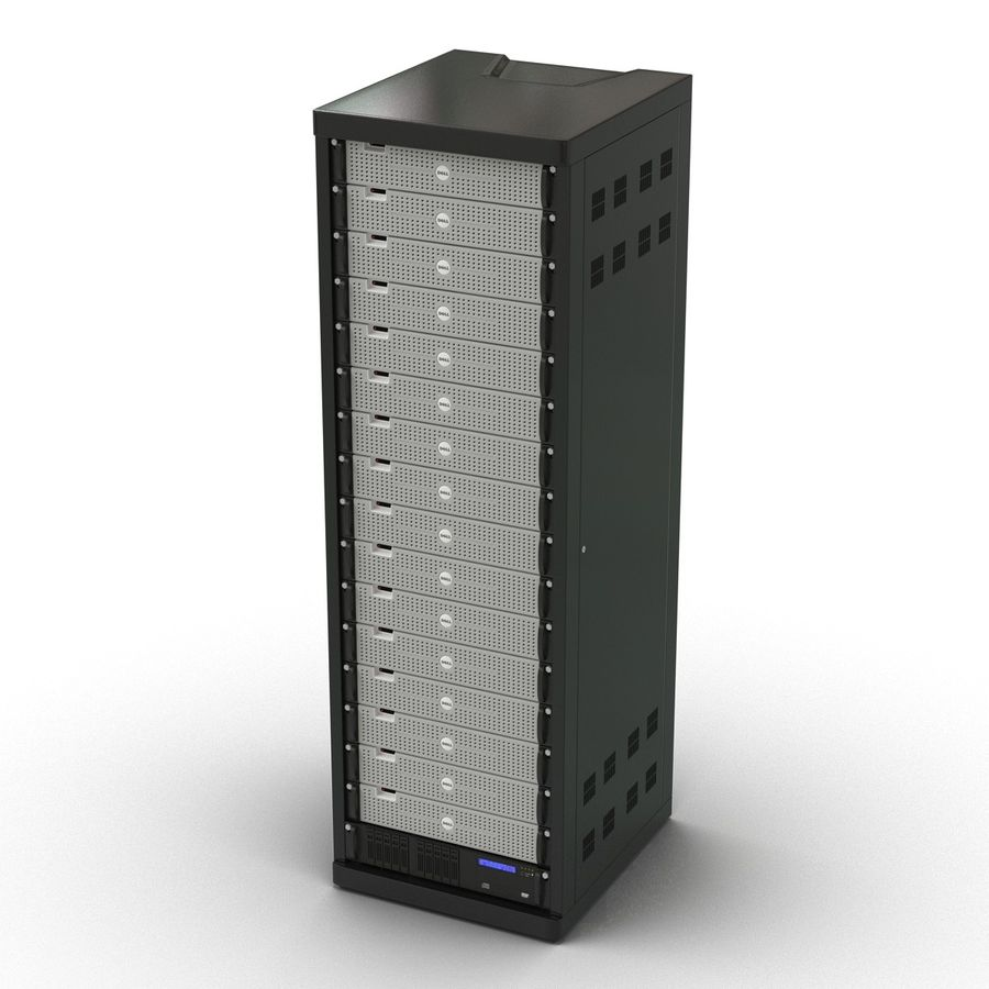 Dell Servers in Rack 2 royalty-free 3d model - Preview no. 5