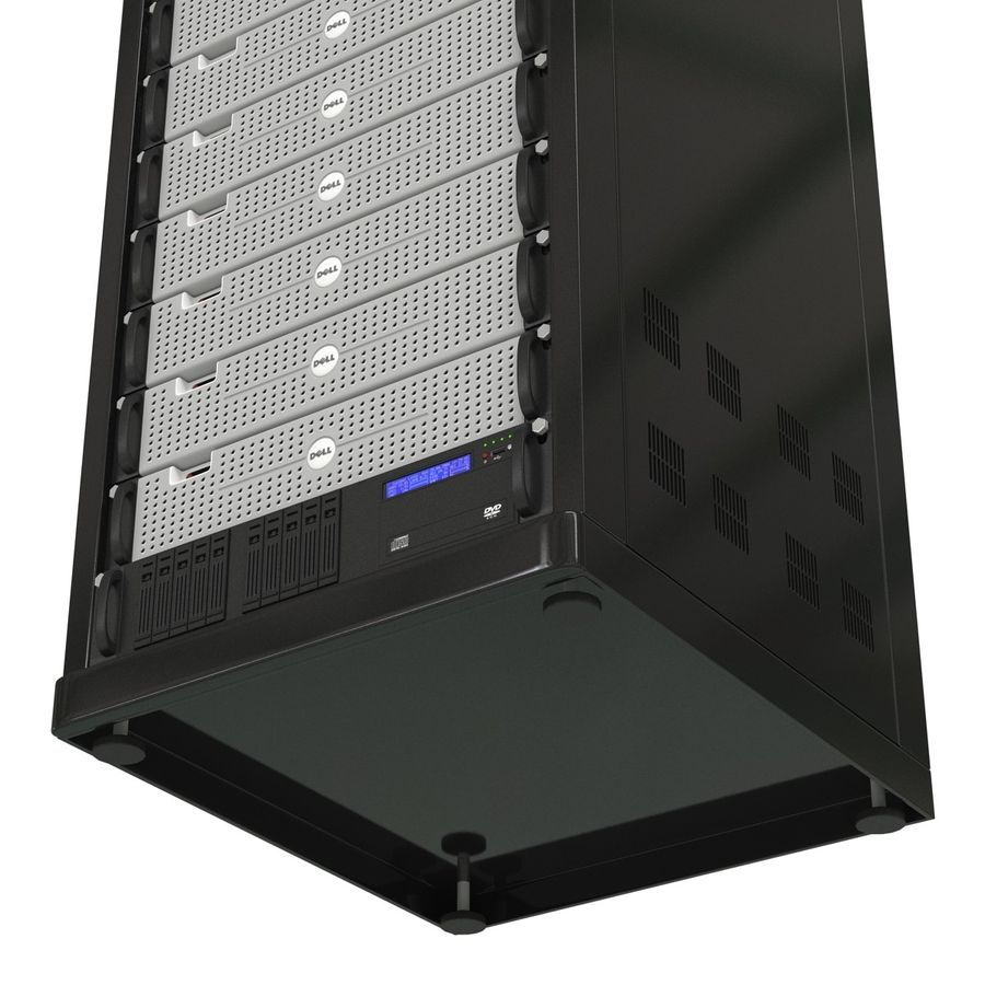 Dell Servers in Rack 2 royalty-free 3d model - Preview no. 14