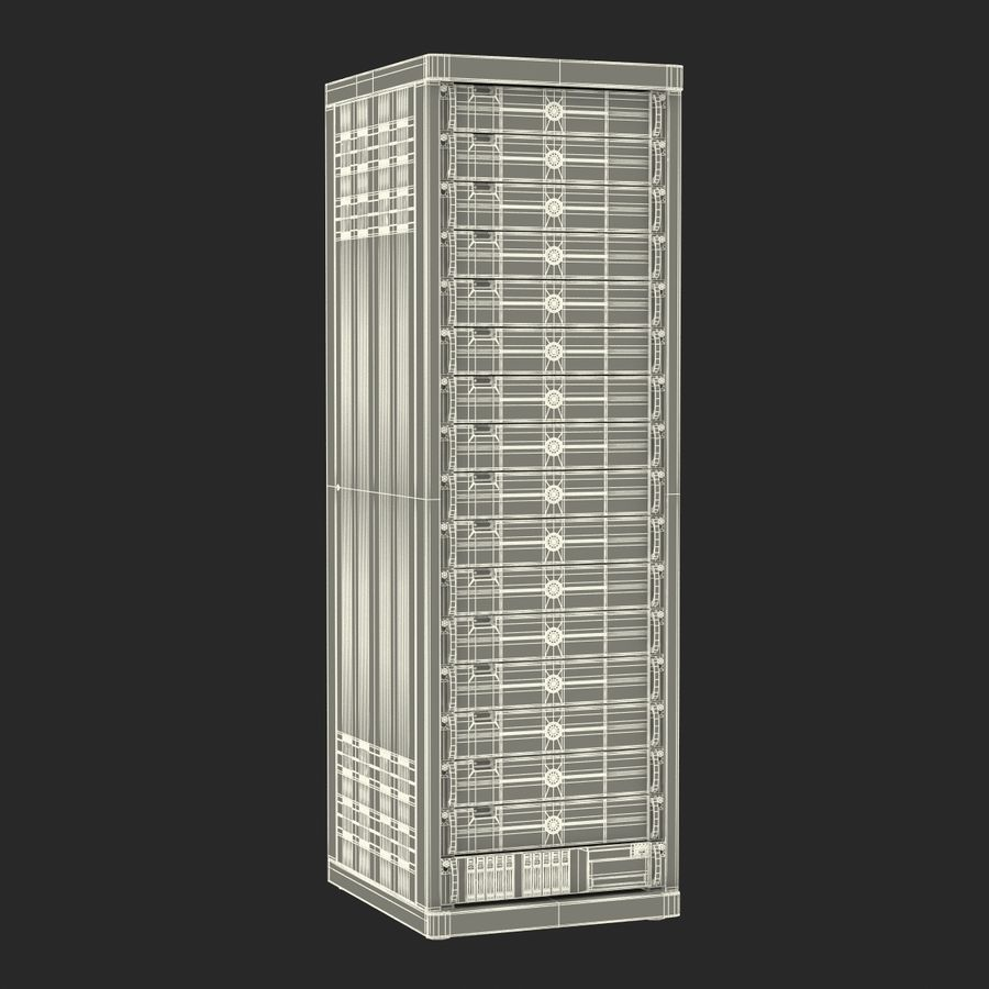 Dell Servers in Rack 2 royalty-free 3d model - Preview no. 21