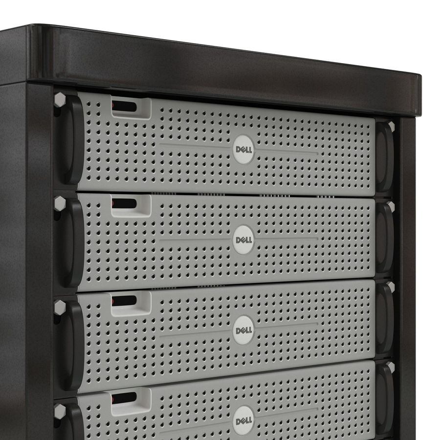 Dell Servers in Rack 2 royalty-free 3d model - Preview no. 13