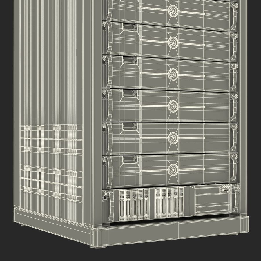 Dell Servers in Rack 2 royalty-free 3d model - Preview no. 26