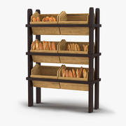 Présentoir de boulangerie 3 3d model