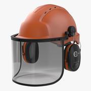 Kask ochronny 2 pomarańczowy 3d model