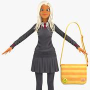 Teenage Girl Student 4b (pulower) 3d model