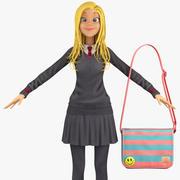 Teenage Girl Student 1b (pulower) 3d model