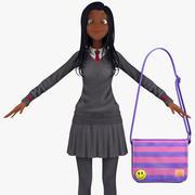 Teenage Girl Student 2b (pulower) 3d model