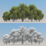 5 + 5 pilträd 3d model