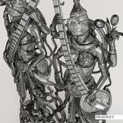 3d model of the goddess Saraswati | Rf_005 3d model