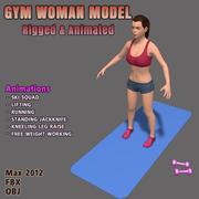 フィットネス女性キャラクター3D 3d model