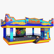 Bumper Cars Attraction 3d model