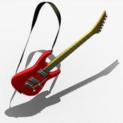 吉他 3d model