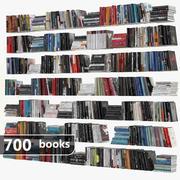 Ensemble de 700 livres 3d model
