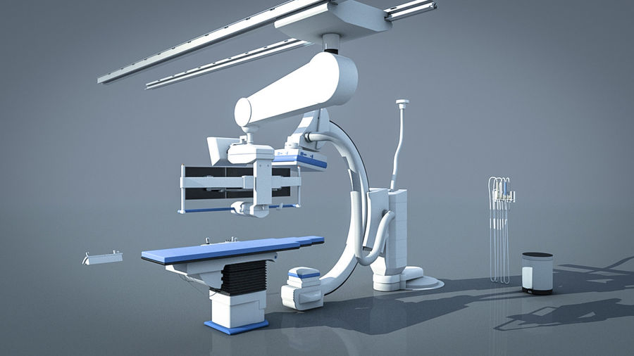 Simens Angiography Machine royalty-free 3d model - Preview no. 5