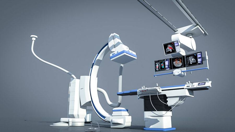 Simens Angiography Machine royalty-free 3d model - Preview no. 7