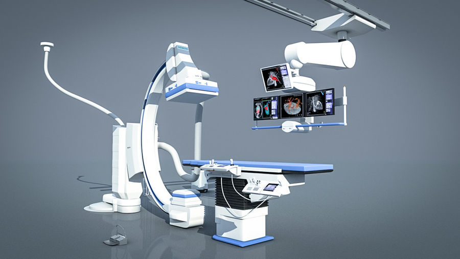 Simens Angiography Machine royalty-free 3d model - Preview no. 4