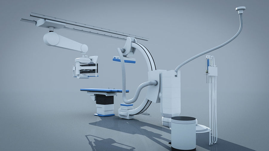 Simens Angiography Machine royalty-free 3d model - Preview no. 6
