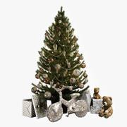 Рождественская елка и новый велосипед 3d model