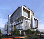 Kontorsbyggnad + miljö 3d model