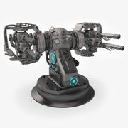 Plasma Turret Sci-Fi 3d model