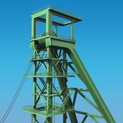 Bergbau-Headframe 3d model