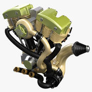 Motosiklet Motoru 3d model