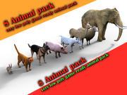 Kolekcja zwierząt 3d model