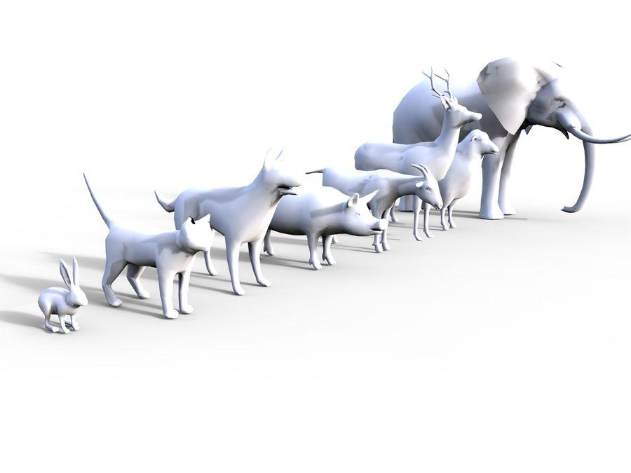 Kolekcja zwierząt royalty-free 3d model - Preview no. 13
