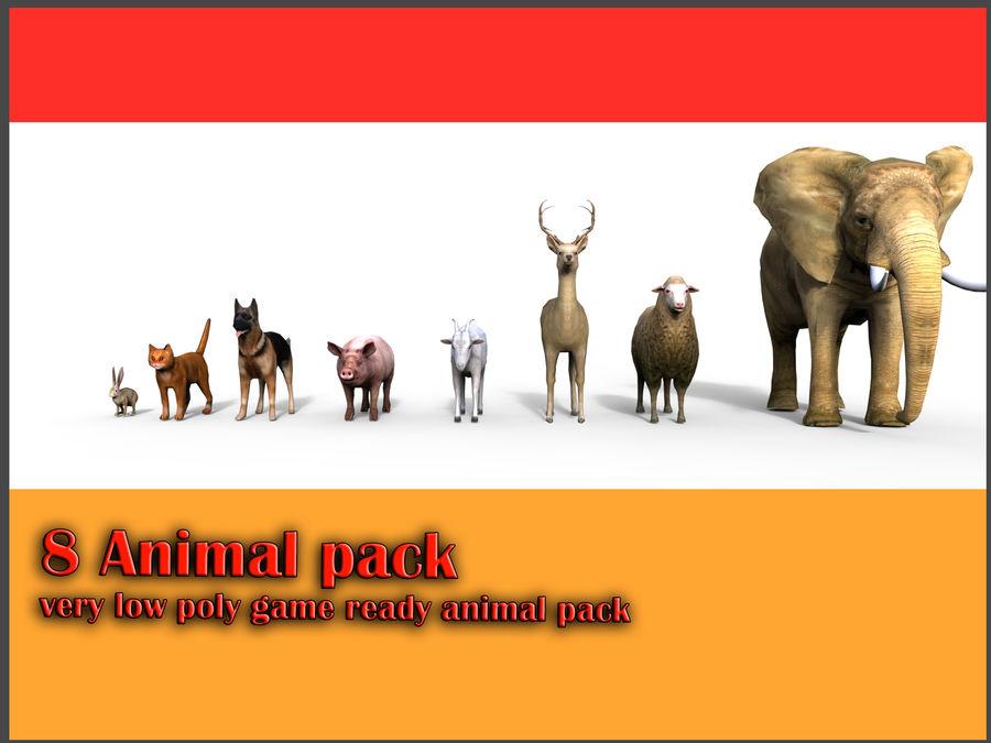 Kolekcja zwierząt royalty-free 3d model - Preview no. 2