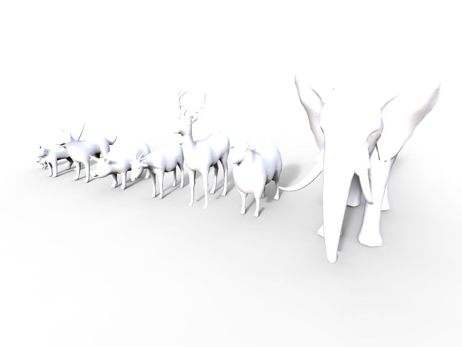 Kolekcja zwierząt royalty-free 3d model - Preview no. 14