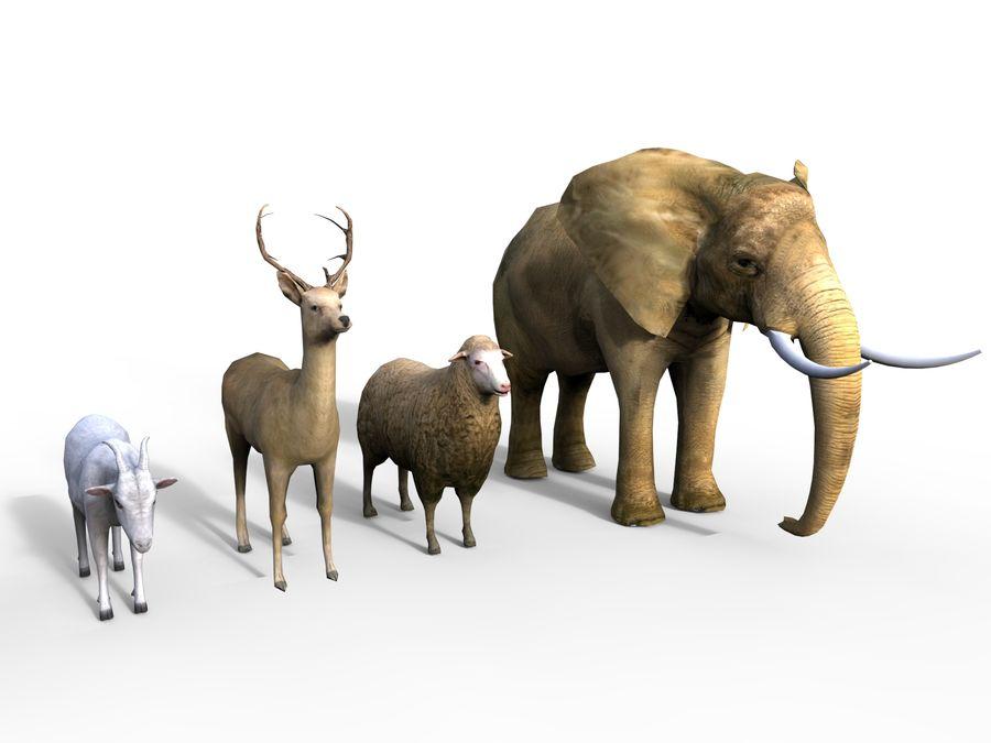 Kolekcja zwierząt royalty-free 3d model - Preview no. 10