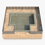 Construction Pit 2 3D Model 3d model