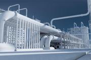 Mega-Raffinerie unstrukturiert 3d model