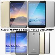 Xiaomi Mi Pad 2 & Redmi Note 3 Collection 3d model