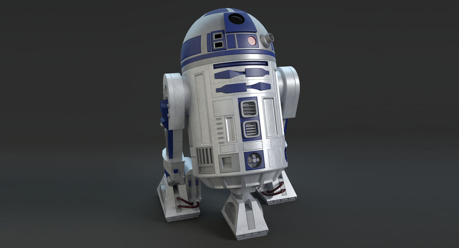 Star Wars Droids royalty-free 3d model - Preview no. 3