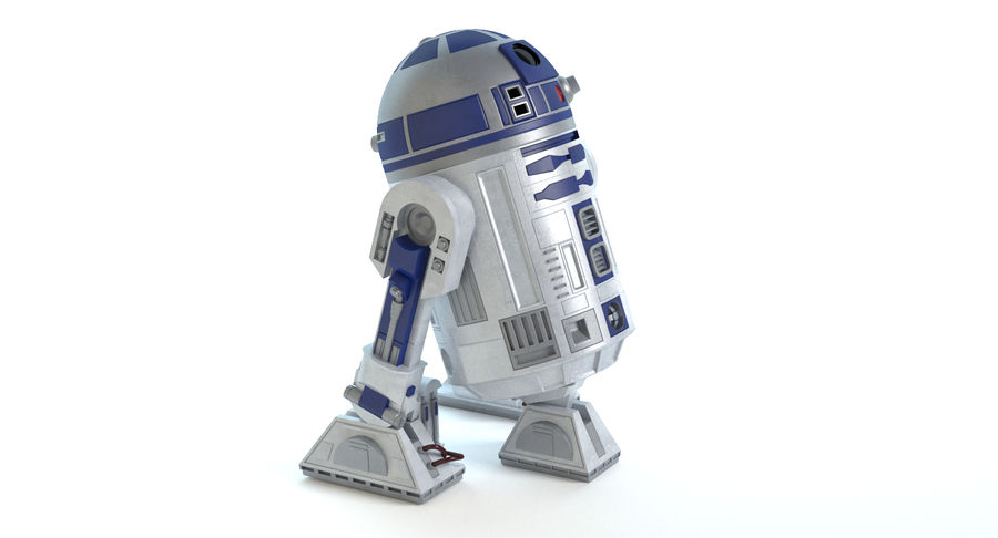 Star Wars Droids royalty-free 3d model - Preview no. 7