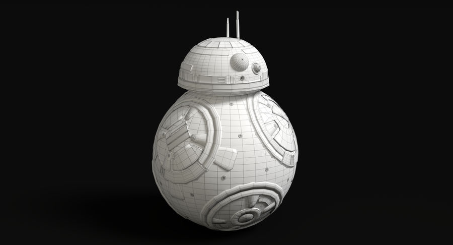 Star Wars Droids royalty-free 3d model - Preview no. 21