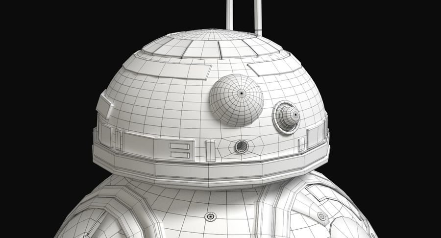 Star Wars Droids royalty-free 3d model - Preview no. 22