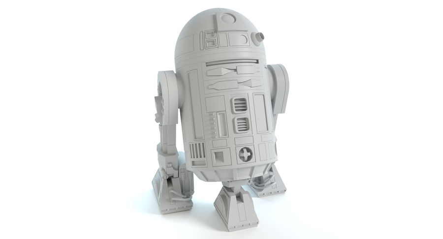 Star Wars Droids royalty-free 3d model - Preview no. 11