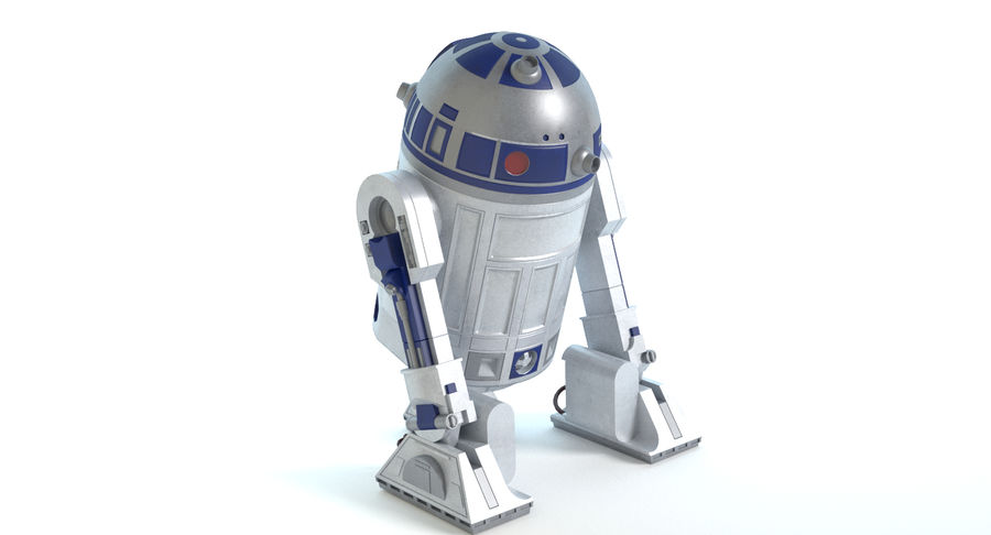 Star Wars Droids royalty-free 3d model - Preview no. 9