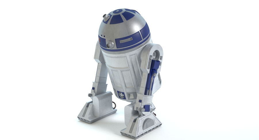Star Wars Droids royalty-free 3d model - Preview no. 8