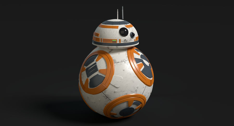 Star Wars Droids royalty-free 3d model - Preview no. 16