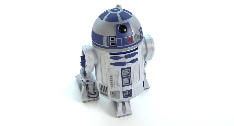 Star Wars Droids royalty-free 3d model - Preview no. 6