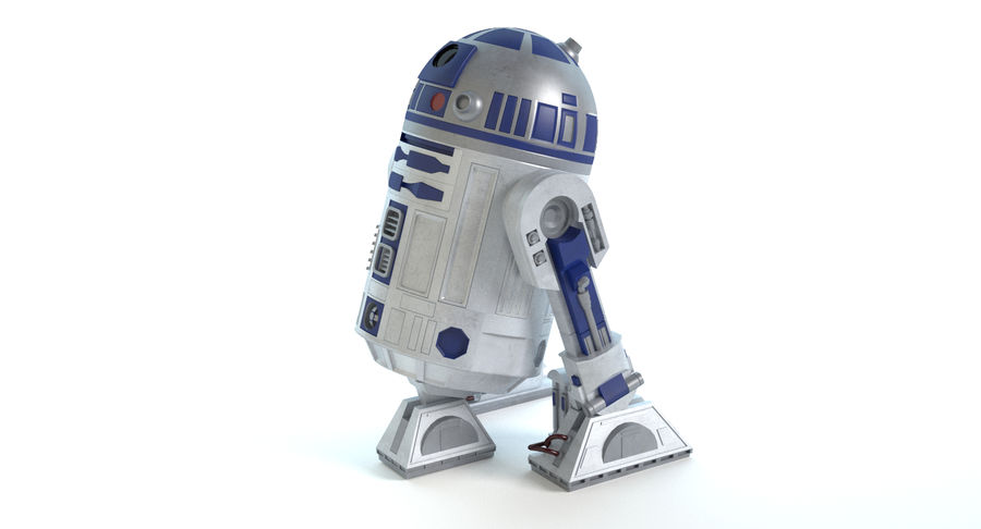 Star Wars Droids royalty-free 3d model - Preview no. 10