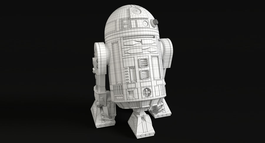 Star Wars Droids royalty-free 3d model - Preview no. 12