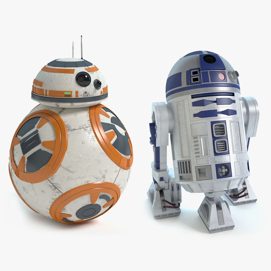 Star Wars Droids royalty-free 3d model - Preview no. 1