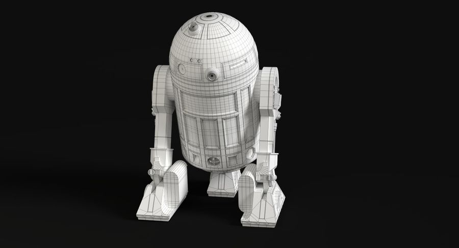 Star Wars Droids royalty-free 3d model - Preview no. 14