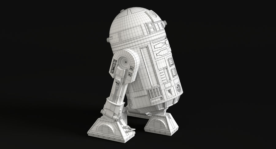 Star Wars Droids royalty-free 3d model - Preview no. 13