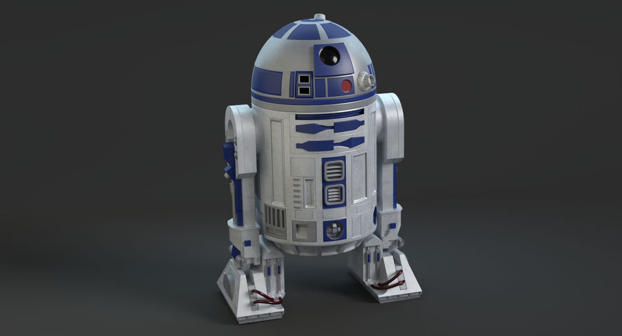 Star Wars Droids royalty-free 3d model - Preview no. 5