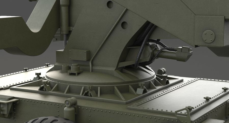 Hawk Missile Launcher royalty-free 3d model - Preview no. 18